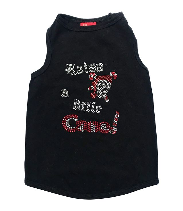 The Dog Squad Tank Top, Christmas Raise A Little Cane Black, Small