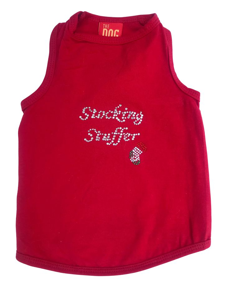 The Dog Squad Tank Top, Christmas Stocking Stuffer Red, X-Small