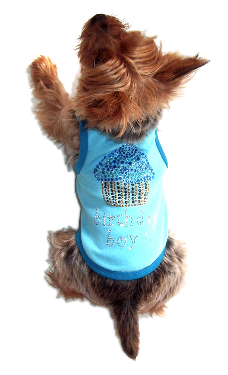 The Dog Squad Tank Top, Blue Birthday Cupcake, Small