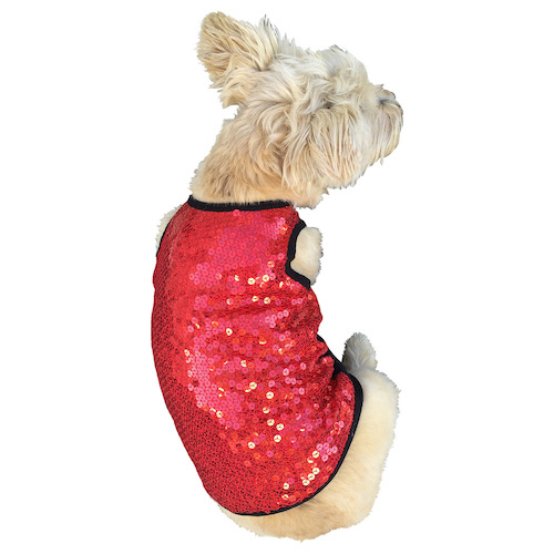 The Dog Squad Tank Top, Vixen Red Sequin, X-Small