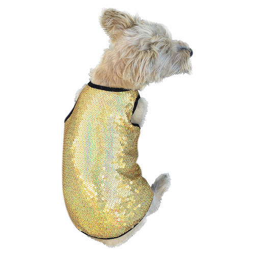 The Dog Squad Tank Top, Gold Stardust, Medium