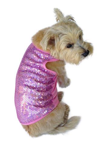 The Dog Squad Tank Top, Malibu Pink Sequin, X-Small