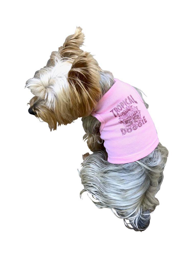 The Dog Squad Tank Top, Tropical Dog Pink, X-Small