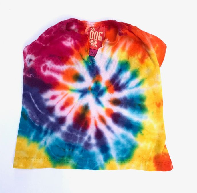 The Dog Squad T-Shirt, Spiral Tie Dye, X-Small