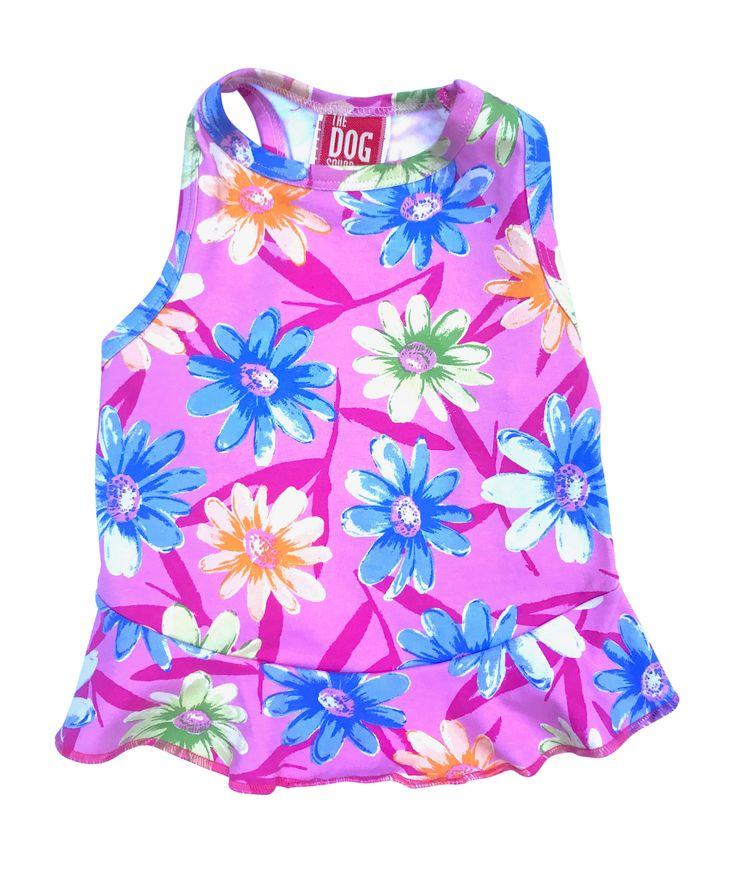The Dog Squad Dress, Floral Aloha, Medium