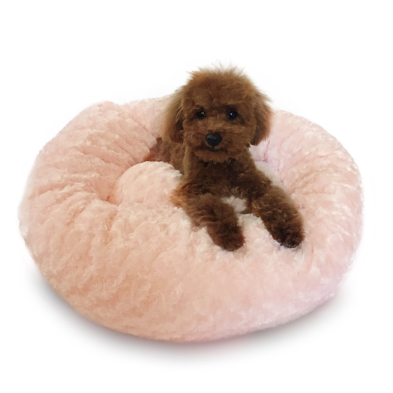 The Dog Squad Crispy Creme Donut Bed, Pink Rosebud , Small