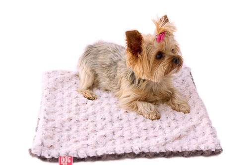 The Dog Squad Minkie Binkie Blanket, Pink & Grey Two Tone Rosebud, 20-in x 30-in