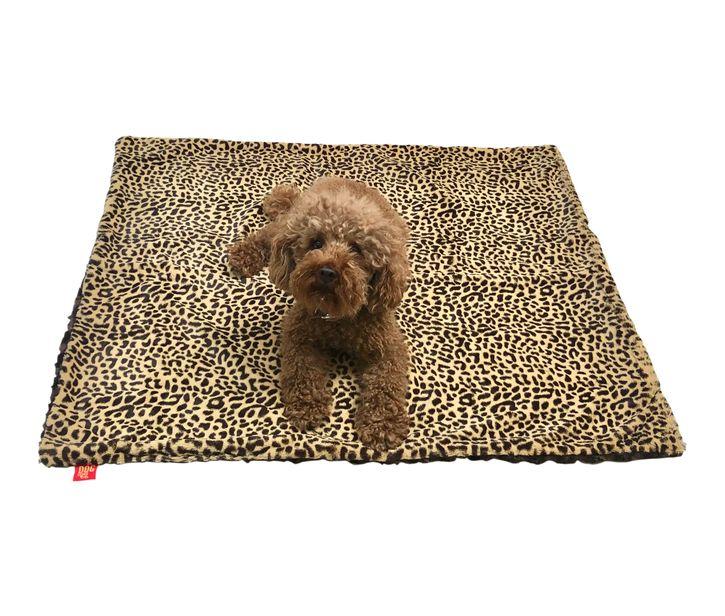 The Dog Squad Minkie Binkie Blanket, Brown Cheetah, Small