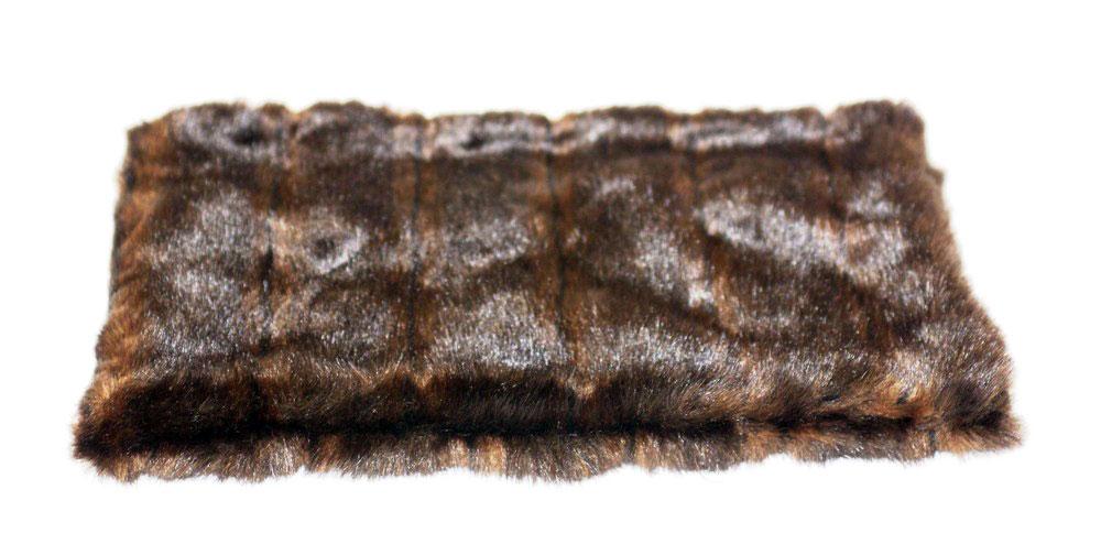 The Dog Squad All Plush Crate Liner Blanket, Brown Mink