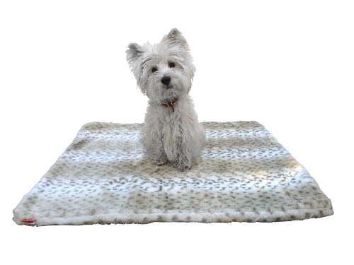The Dog Squad All Plush Crate Liner Blanket, Sno Leopard