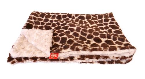 The Dog Squad Minkie Binkie Blanket, Brown Giraffe, Small