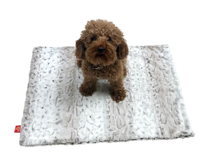 The Dog Squad Minkie Binkie Blanket, Frosted Sno Leopard, 20-in x 30-in