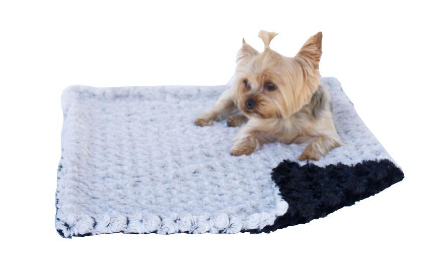 The Dog Squad Minkie Binkie Blanket, Grey & Black, 20-in x 30-in