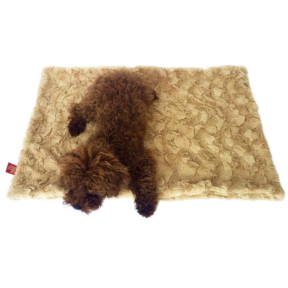 The Dog Squad Minkie Binkie Blanket, Bella Caramel, Square