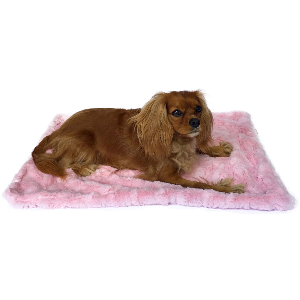 The Dog Squad Minkie Binkie Blanket, Bella Light Pink, Small