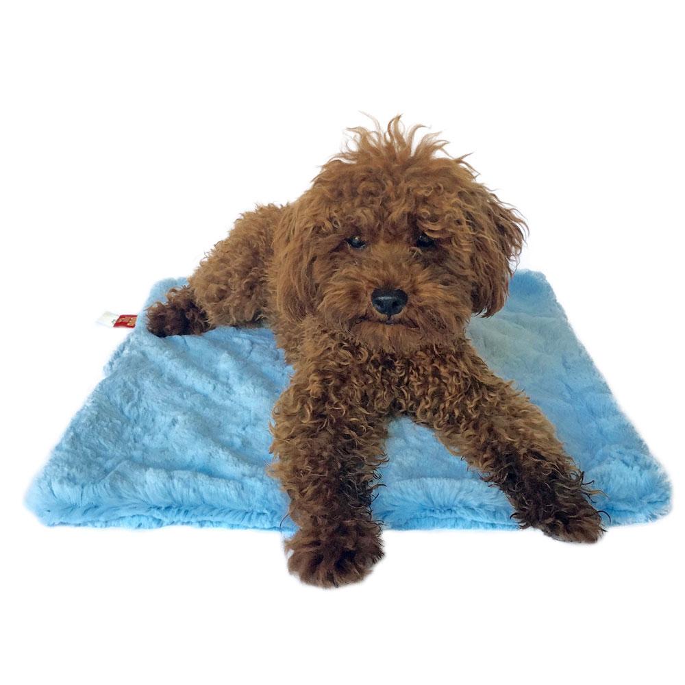 The Dog Squad Minkie Binkie Blanket, Bella Light Blue, Square