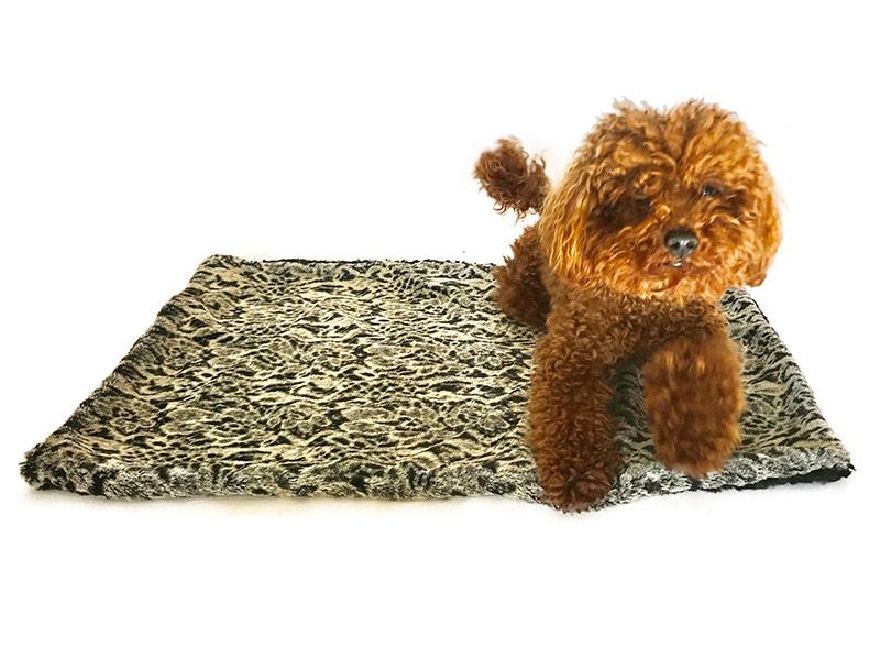 The Dog Squad Faux Fur Minkie Binkie Blanket, Moroccan Tile, Square