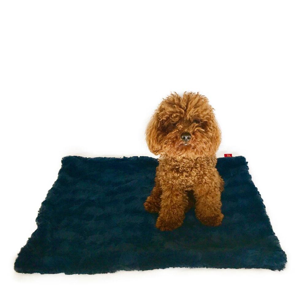 The Dog Squad Minkie Binkie Blanket, Bella Navy Blue, Small