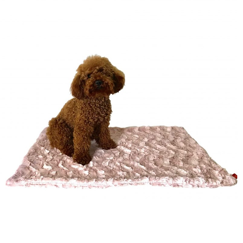 The Dog Squad Minkie Binkie Blanket, Bella Blush, 16.5-in x 16.5-in