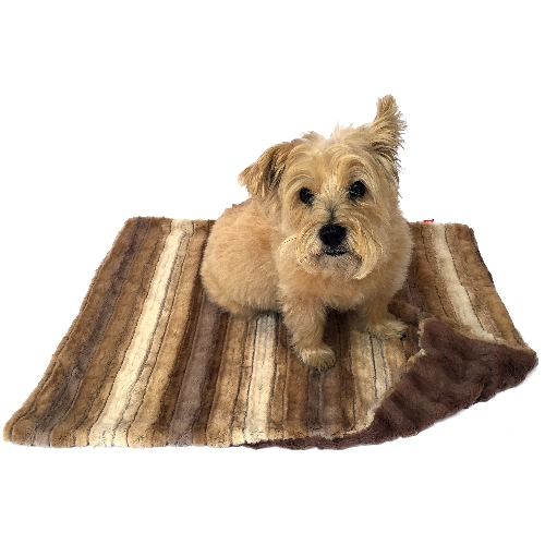 The Dog Squad Minkie Binkie Blanket, Caramel Brown Ombre, Small