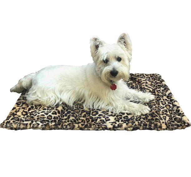 The Dog Squad Blanket, Leopard Sand, Square