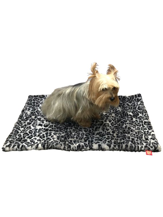 The Dog Squad Blanket, Leopard Steel, Square