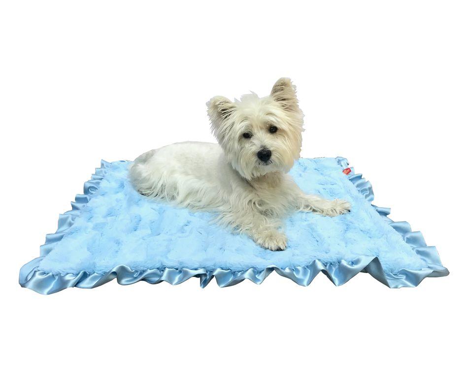The Dog Squad Ruffled Blanket, Bella Blue, Travel