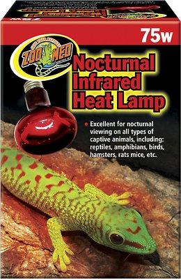 Zoo Med Nocturnal Infrared Reptile Heat Lamp, 75-Watt