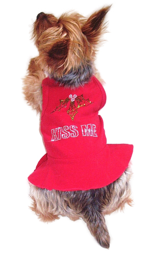 The Dog Squad Tank Dress, Christmas Kiss Me Red, Large