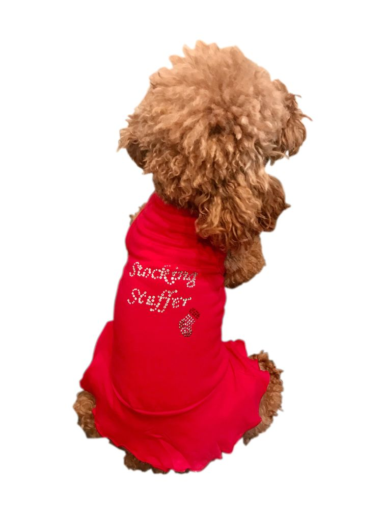 The Dog Squad Tank Dress, Christmas Stocking Stuffer Red, Small