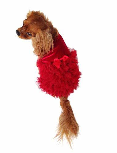 The Dog Squad Dress, Red Carpet Ruffle, XX-Small