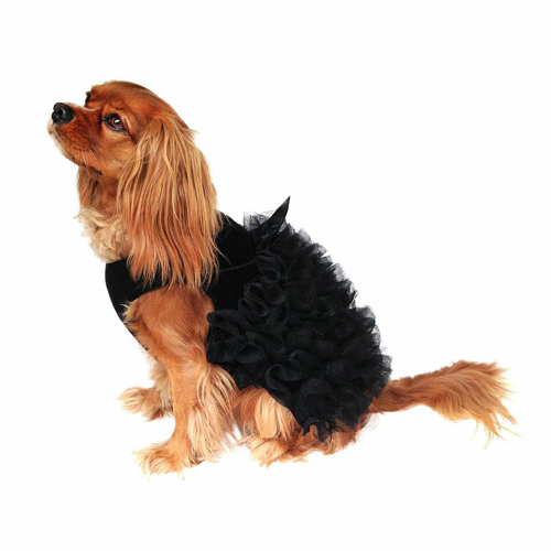 The Dog Squad Dress, Ruffle Black, X-Small
