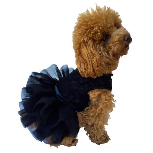 The Dog Squad Fufu Tutu Dog Dress, Black, X-Small
