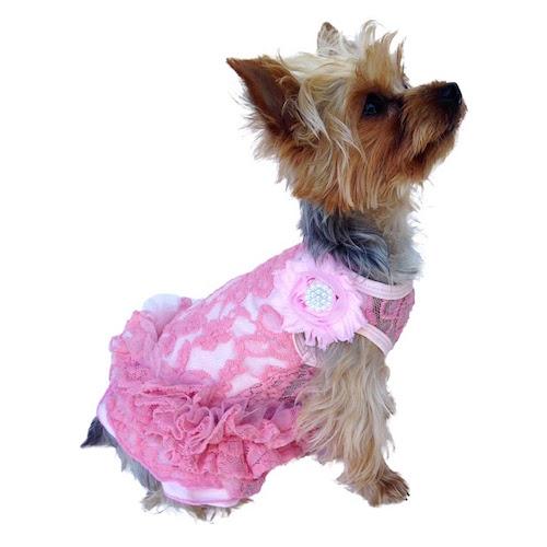 The Dog Squad Tutu Dress, Pink Garden Party, Medium