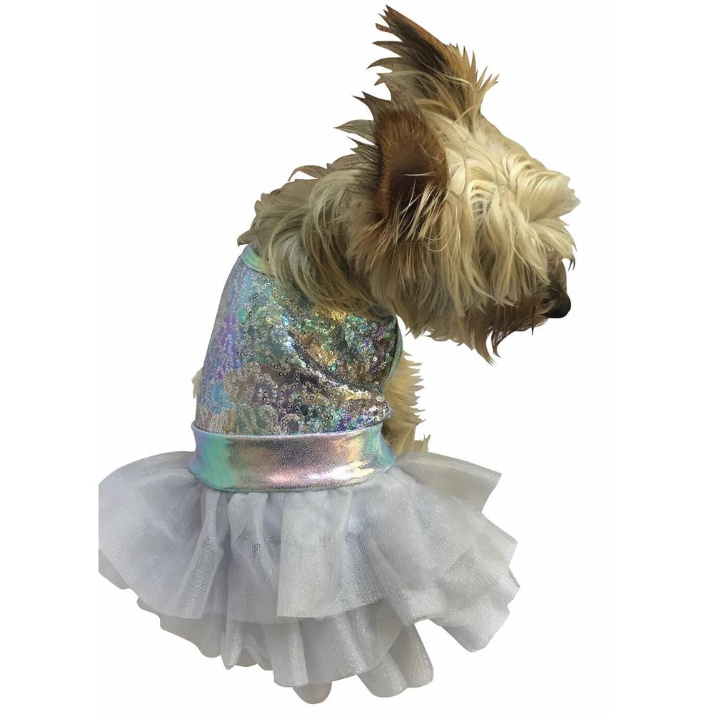 The Dog Squad Fufu Tutu Dog Dress, Unicorn Sparkle, Large