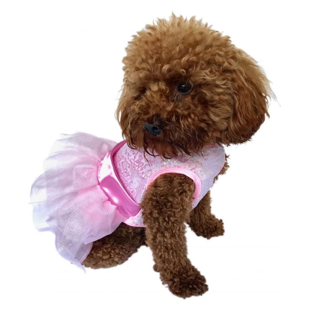 The Dog Squad Fufu Tutu Dog Dress, Zsa Zsa Pink, X-Small