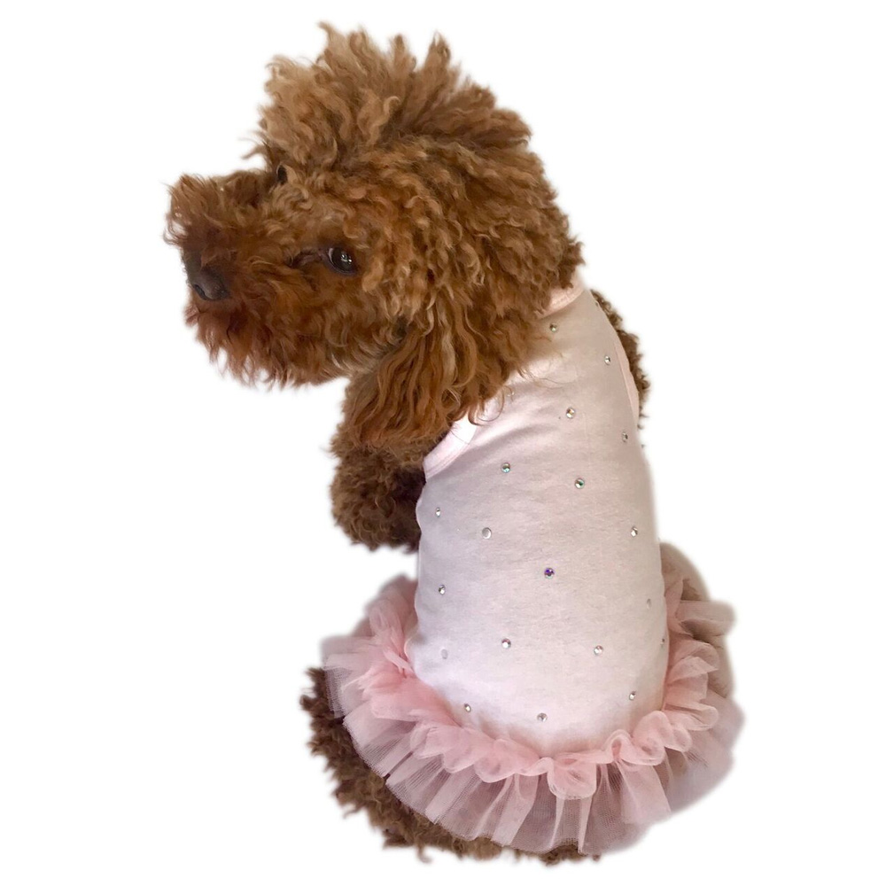 The Dog Squad Tutu Dress, Pearly Girl, Large