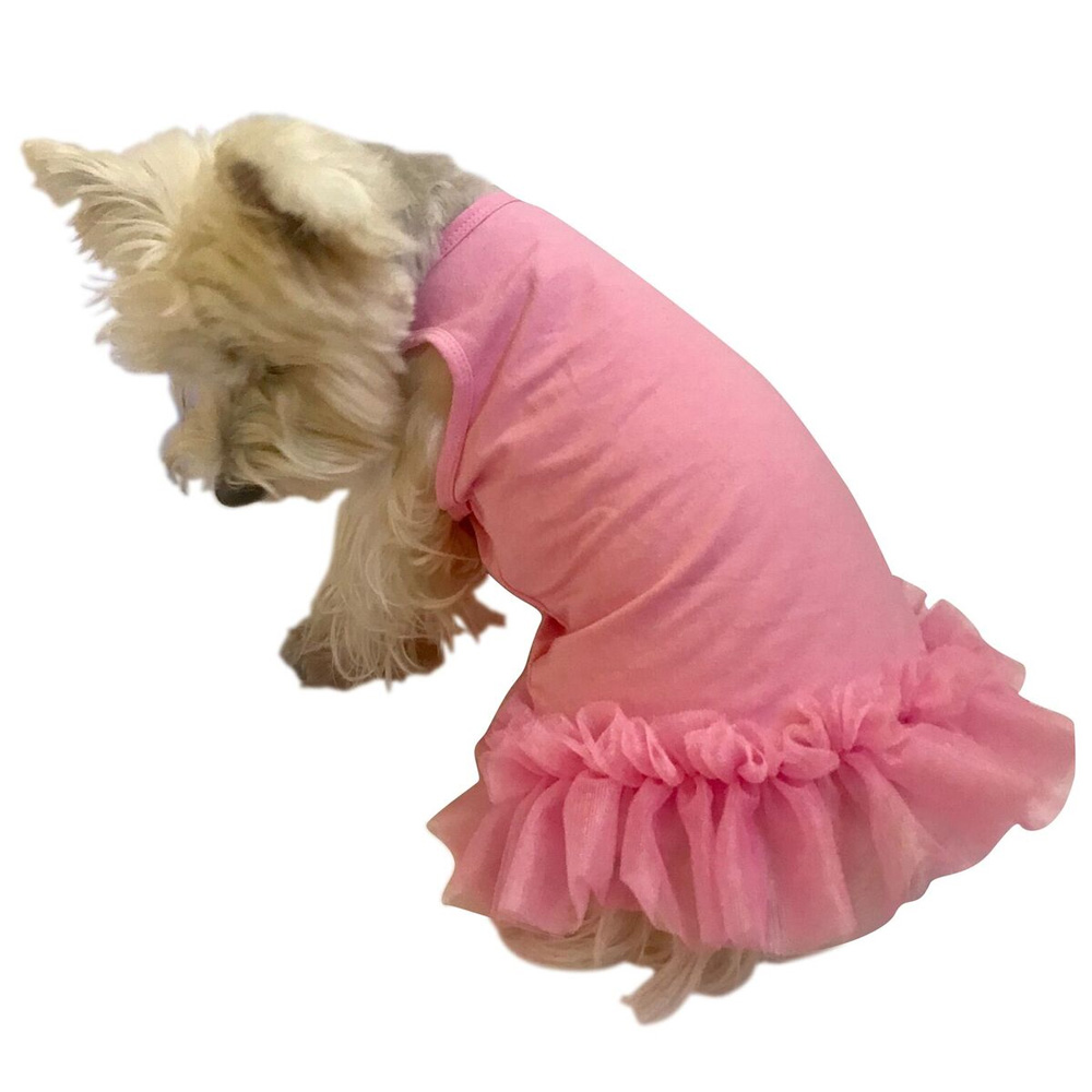 The Dog Squad Tutu Dress, Bubblegum Pink Hello Summer, X-Small