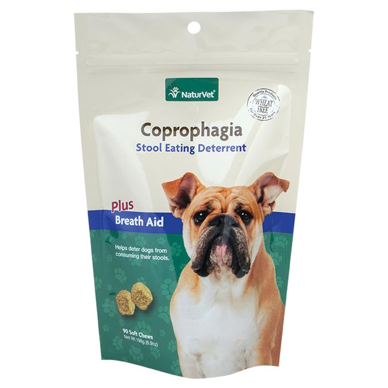 Naturvet Coprophagia Deterrent Plus Breath Aid Soft Chews for Dogs, 90-count