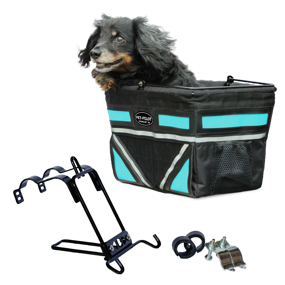 Travelin K9 2018 Pet-Pilot Bike Basket for Dogs & Cats, Turquoise