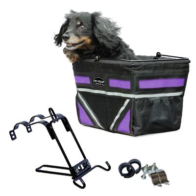 Travelin K9 2018 Pet-Pilot Bike Basket for Dogs & Cats, Passion Purple