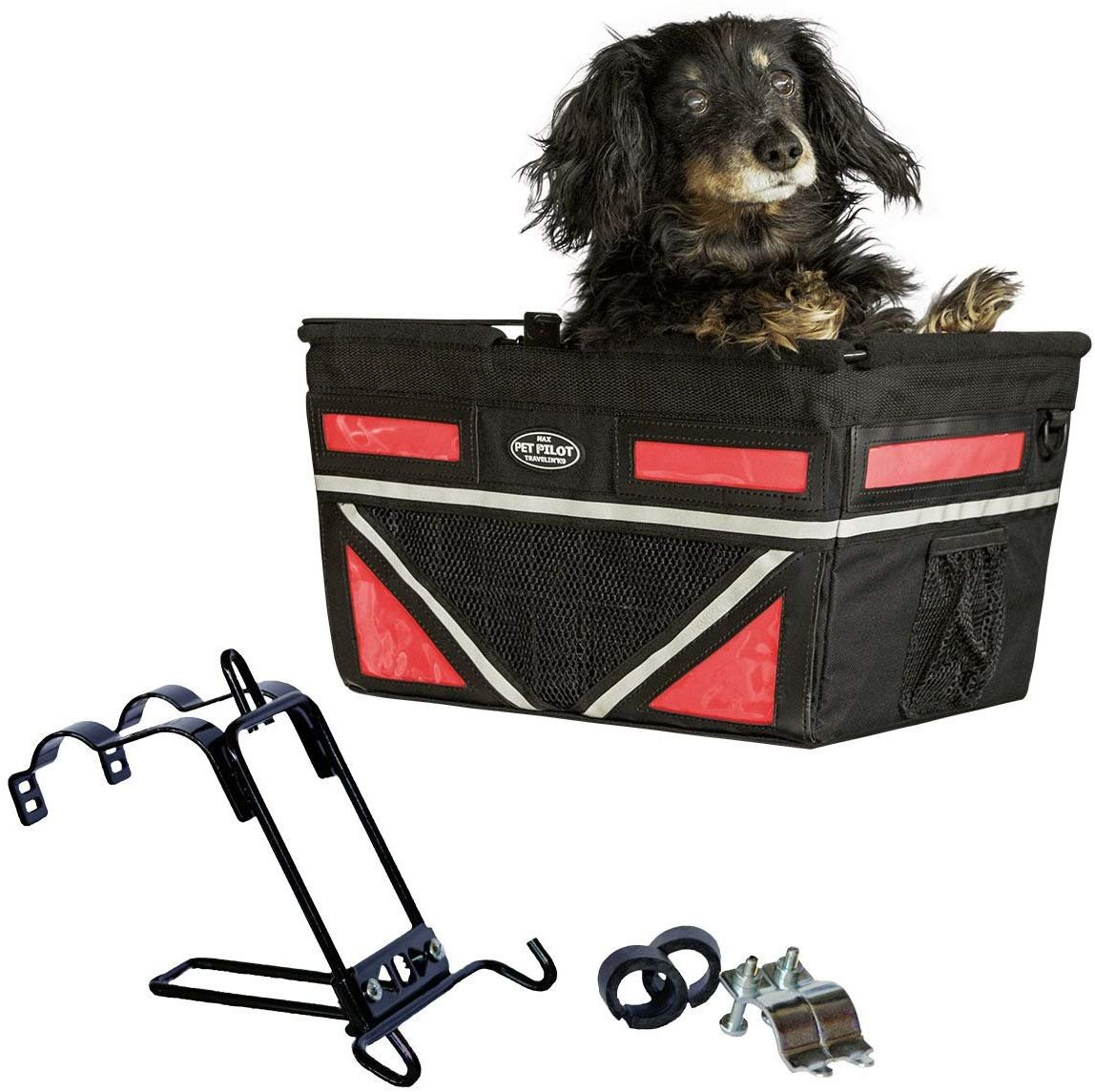 Travelin K9 2019 Pet-Pilot MAX Large Bike Basket for Dogs & Cats, Cherry Red