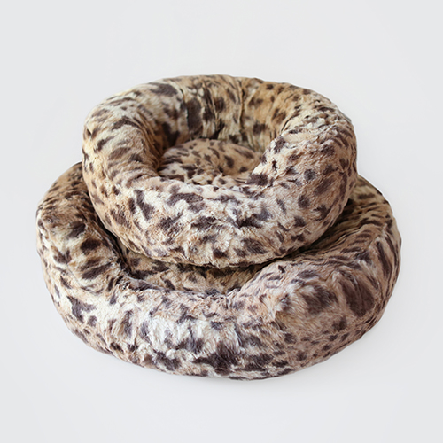Hello Doggie Amour Dog Bed, King Leopard, Large