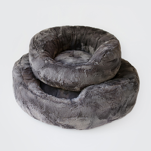 Hello Doggie Amour Dog Bed, Pewter, Large