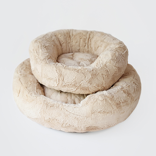 Hello Doggie Amour Dog Bed, Sand, Large