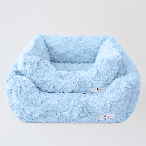 Hello Doggie Bella Dog Bed, Baby Blue, Small
