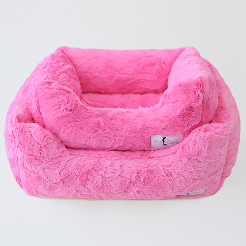 Hello Doggie Bella Dog Bed, Fuchsia, Large