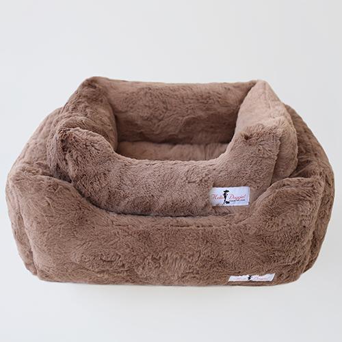 Hello Doggie Bella Dog Bed, Mocha, Large