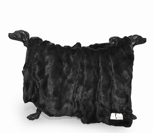 Hello Doggie Bella Dog Blanket, Black, Small