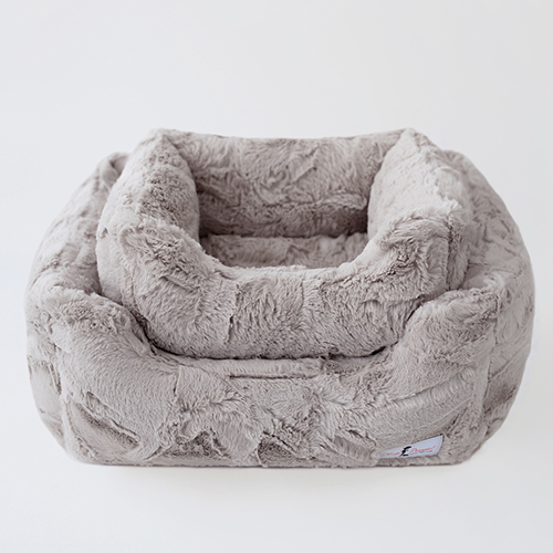 Hello Doggie Luxe Dog Bed, Taupe, Large